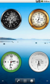 2x2 clock widgets, each configured for different time zone providing a handy World Clock on one home screen.